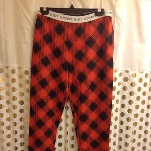 Victoria's Secret Buffalo Plaid PJ Pants XL NWOT
